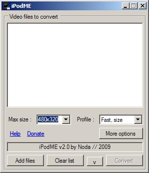 iPodME: конвертируем видео для iPod и iPhone