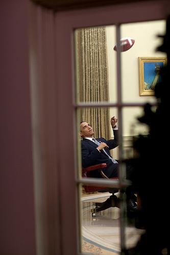 Обама пиарит свой канал на Flickr