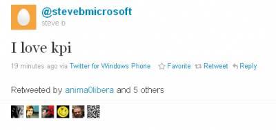 Стив Балмер показал свой твиттер