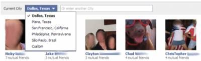 Facebook тестирует новый вид поиска друзей