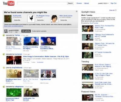 Youtube обновил дизайн стартовой страницы сайта