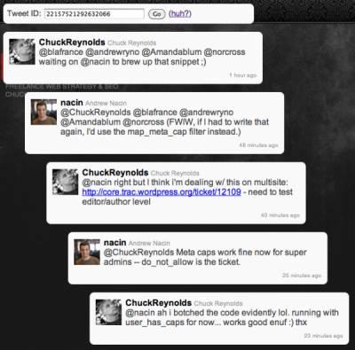 Как посмотреть разговор между двумя Twitter-пользователями на одной странице