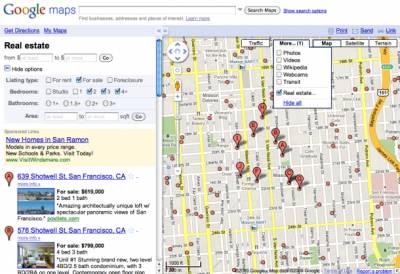 Google Maps закрывает каталог недвижимости