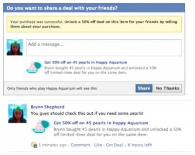 Facebook запустил новые сервисы для системы Facebook Credits