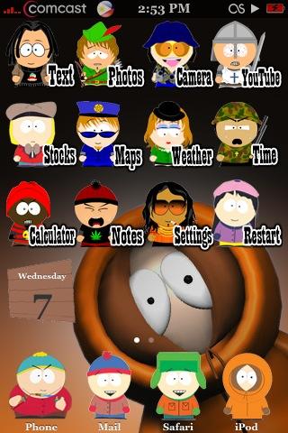 Скачать темы для iphone- South Park