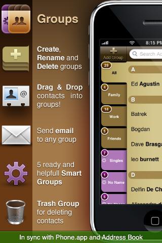 Groups: Drag & Drop Contacts Management - скачать бесплатно для iPhone