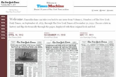 The New York Times опубликовала на сайте архив газет за 70 лет