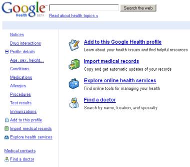 Google закроет проект Google Health