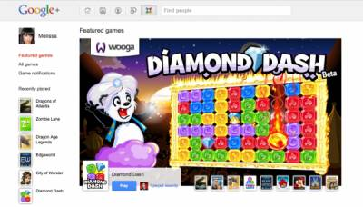 На Google + появились игры