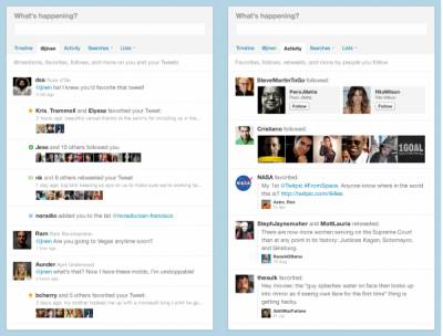 Twitter запустил Activity Stream