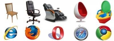 Если бы браузеры были ... стульями