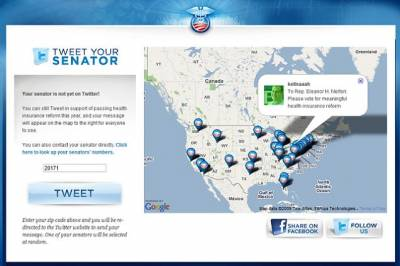 Обама давит через Твитер на сенаторов