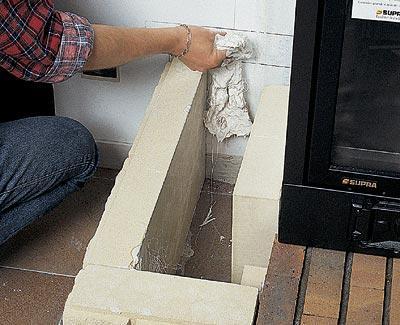 Установка камина