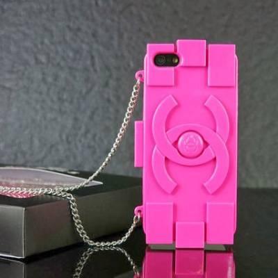 Чехол для IPhone 5 от Chanel Lego Hot Pinke