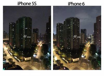 Пример снимка, снятый iPhone 6 в сравнении с iPhone 5S