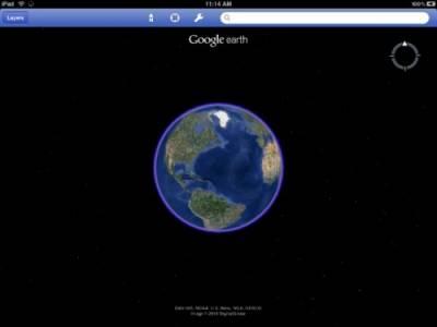 Приложение Google Earth появилось на iPad