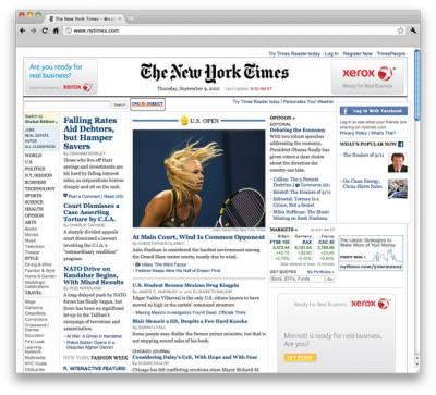 New York Times перестанет печатать газету