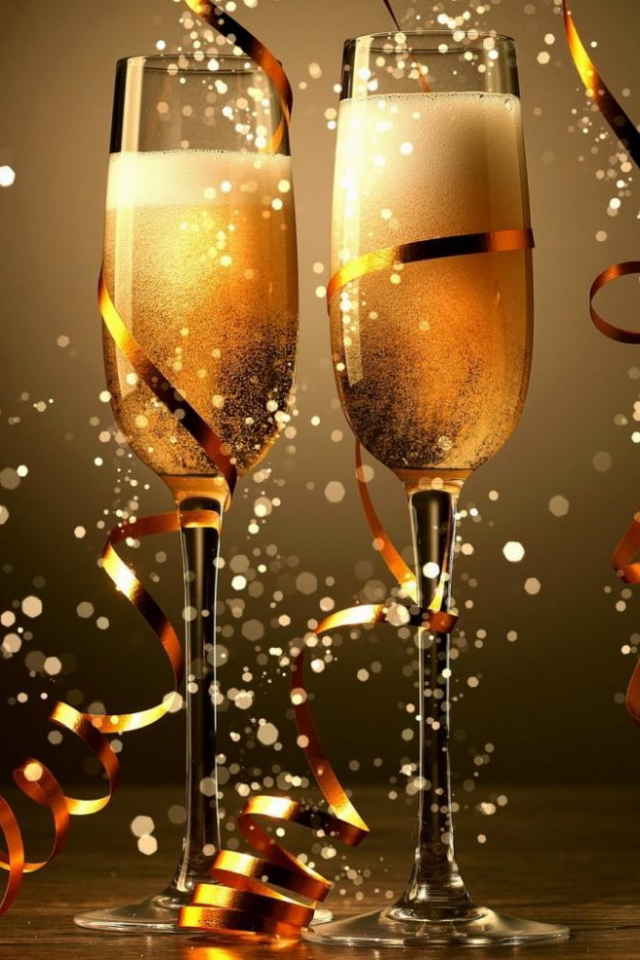 обои бокал шампанского
