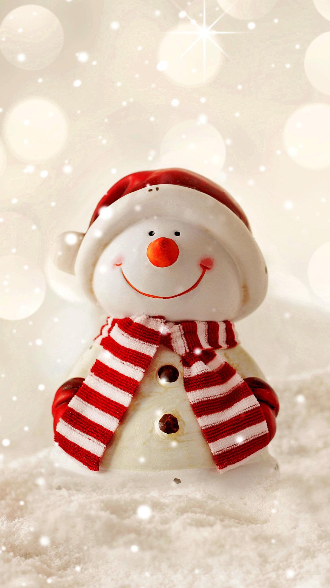 заставка на телефон снеговик